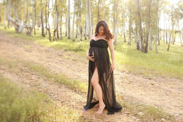 Vestido de maternidad liso