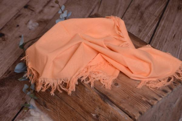 Light orange fringed little fabric