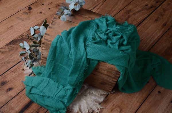 Wrap aus Baumwolle in dunkles Aquagrün