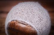 Mütze aus Angorawolle in Weiß