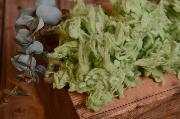Green loose wool