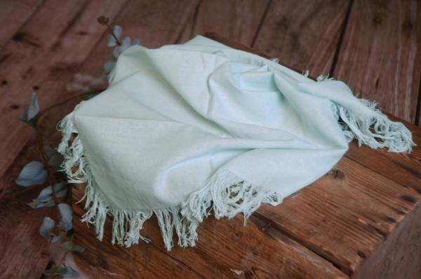 Aquamarine fringed little fabric