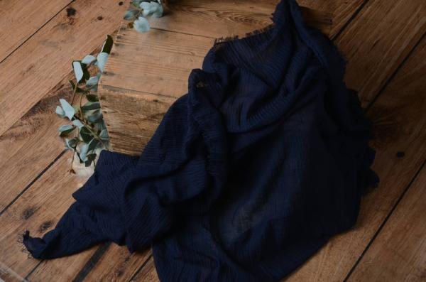 Navy blue cotton wrap
