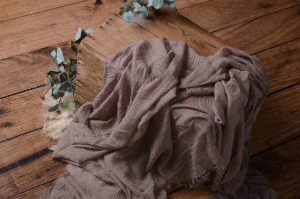 Rose mink cotton wrap