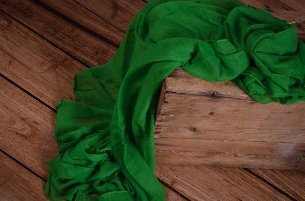 Wrap di mussolina verde
