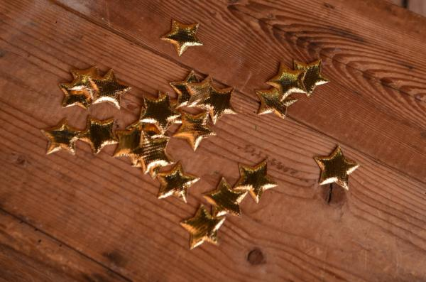 Decorative golden stars 3 cm