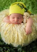 Runde reinwollene Decke - beige