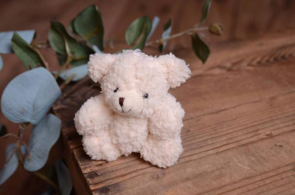 Off-white little bear toy 12 cm
