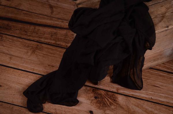 Black muslin wrap