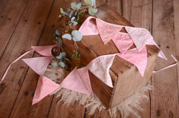 Pink decorative pennant