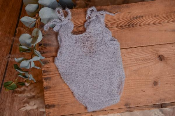 Light blue mohair bodysuit