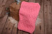 Pink plaited blanket