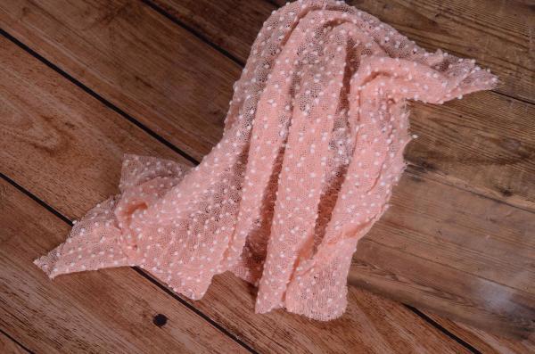 Wrap con borlas rosa