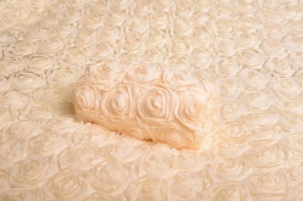 Damaged beige flower fabric