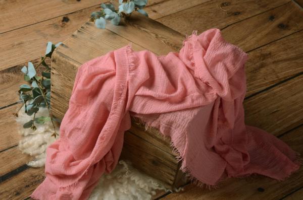 Wrap aus Baumwolle in Rosa