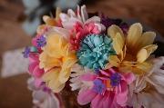 Capota floral multicolor