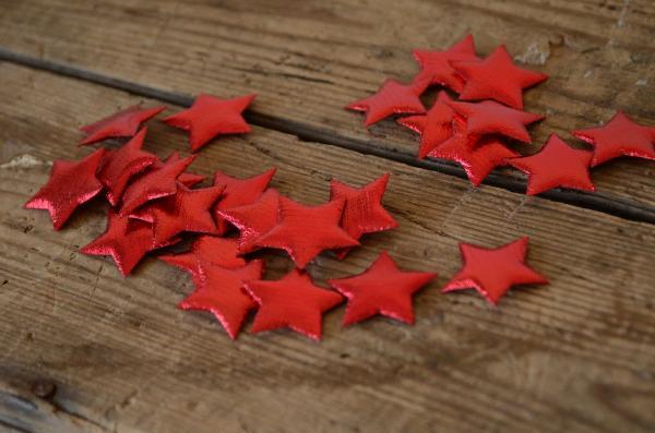 Decorative red stars 3 cm