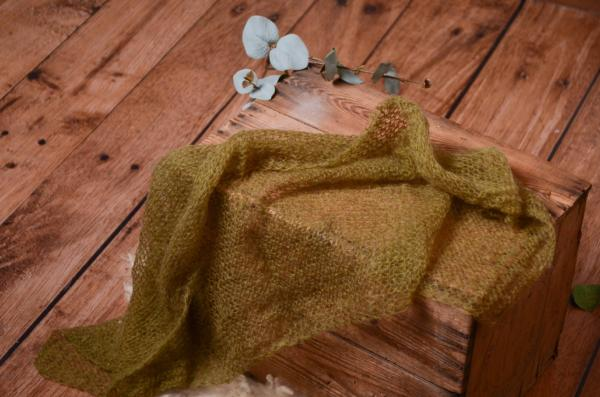 Olive green mohair wrap
