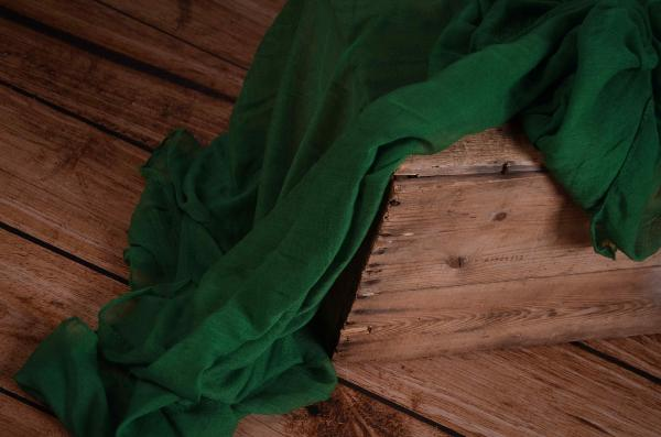 Intense green muslin wrap