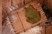 Justaucorps en mohair avec volants et serre-tête vert olive
