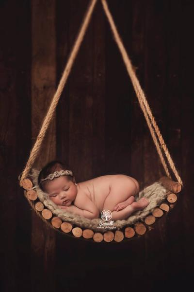 Curved rustic swing