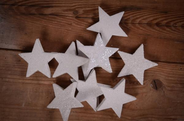 Decorative white stars 6 cm