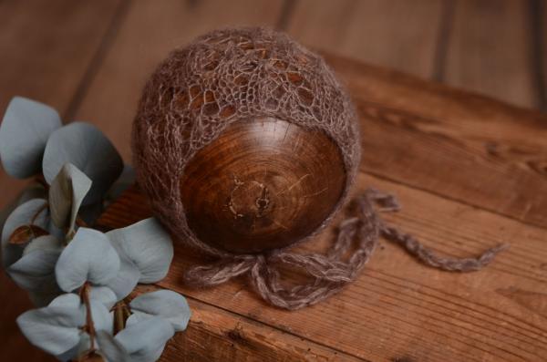 Fantasiemütze aus Angorawolle in Nerz