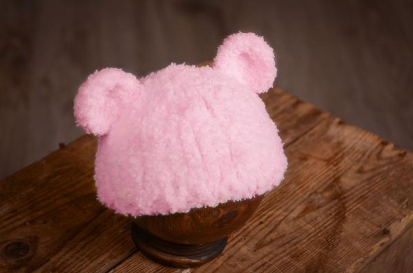 Pink hat with lamb ears