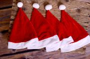 Pack Santa Claus' hats
