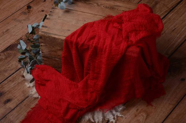 Wrap aus Baumwolle in Rot