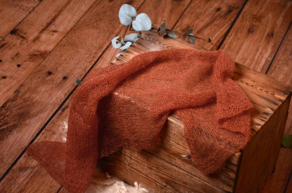 Dark orange  mohair wrap
