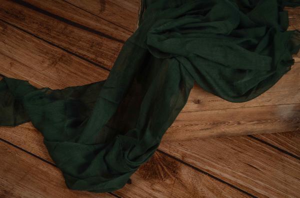 Wrap mousseline vert foncé