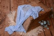Light blue rayon wrap