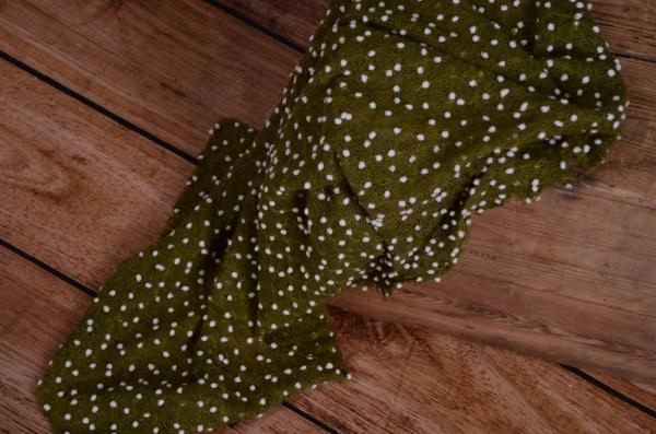 Olive green tasselled wrap