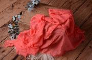 Wrap aus Baumwolle in Lachsfarbe