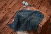 Wrap en mohair bleu marine