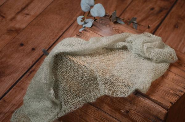 Light grey mohair wrap