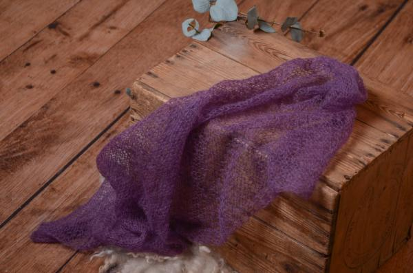 Purple mohair wrap