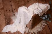 Wrap aus Zellwolle in Weiß