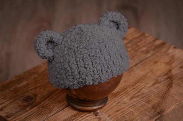 Grey hat with lamb ears