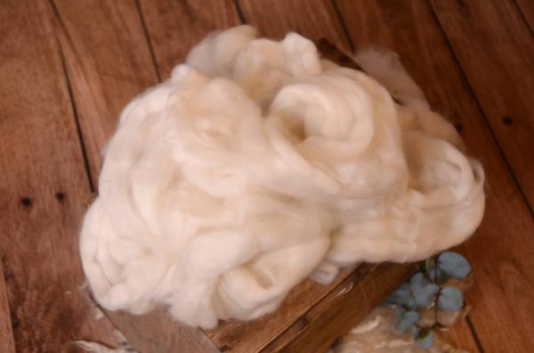 Laine naturelle peignée blanc écru