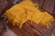 Mustard yellow fringed little fabric