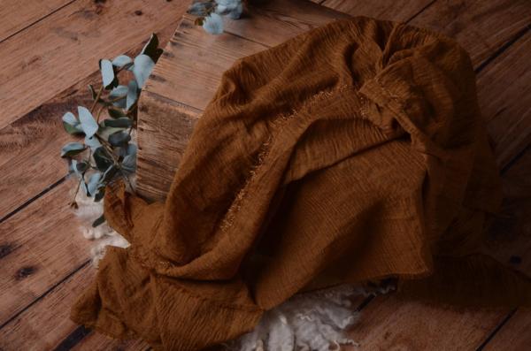 Wrap de algodón marrón