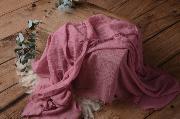 Wrap di cotone rosa violaceo