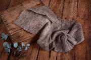 Wrap de lana visón jaspeado