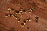 Estrellas decorativas dorado 3 cm