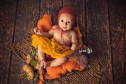 Couverture en laine orange