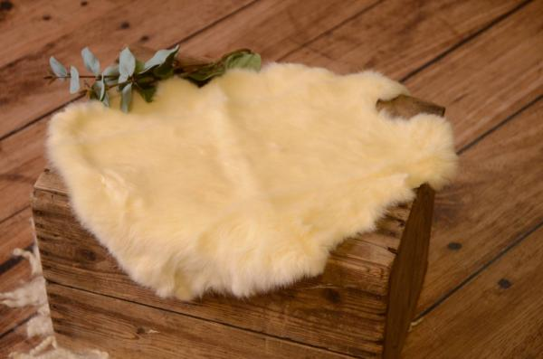 Beige fur fabric