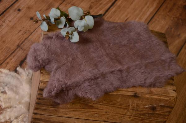 Dark pink fur fabric