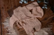 Pyjama et bonnet en mohair beige